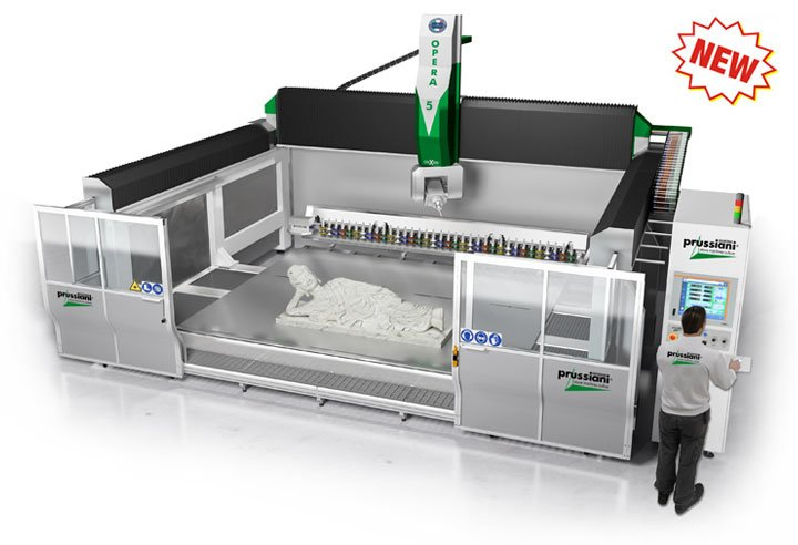 NEW CNC WORKING CENTERS for processing of marble, granite, engineered quartz, ceramic and natural stones