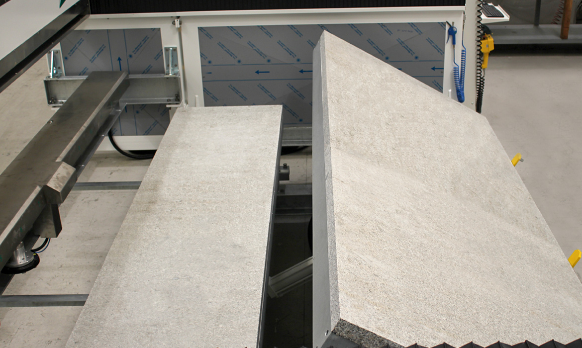 Slabs polishing machines Mirror with parzial tilting table granite - Prussiani