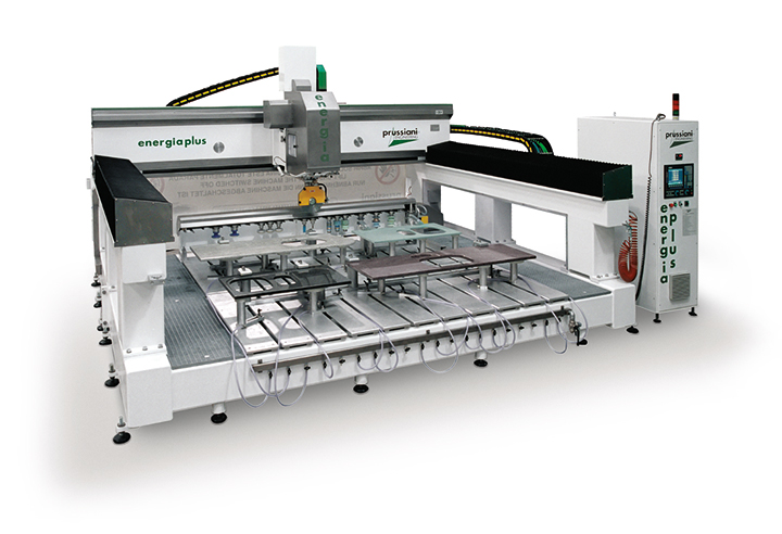 Used machine Energia Plus, CNC working center Prussiani for cutting marble, ceramic and quartz